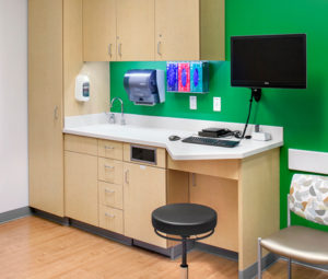 Patient room at The Woodlands Hospital in Texas
