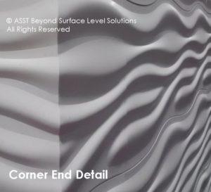 SCULPTCOR® corner end detail