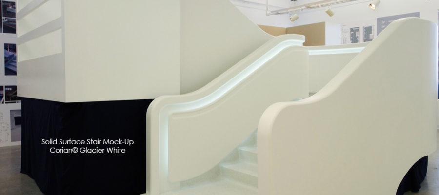 Corian Glacier White staircase