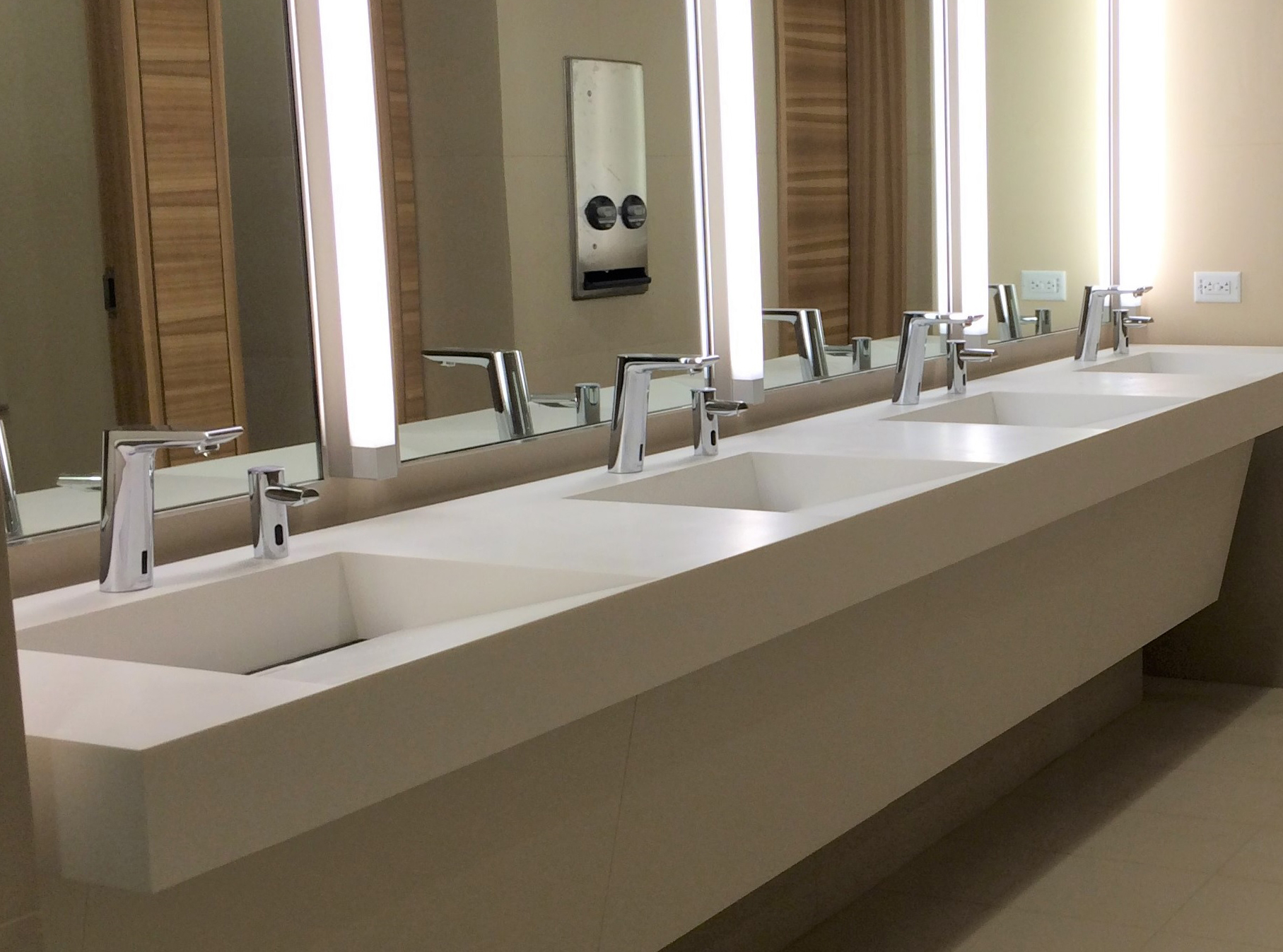 Everything Including The Bathroom Sink Solid Surface Elegance And Ada Compliance Are Unlikely Friends Asst